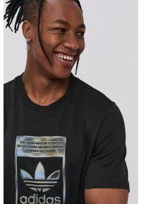 adidas Originals - T-shirt bawełniany. Kolor: czarny. Materiał: bawełna. Wzór: nadruk