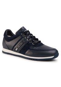Niebieskie sneakersy Baldinini z cholewką