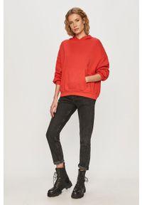 Czerwona bluza TALLY WEIJL z długim rękawem, casualowa, na co dzień