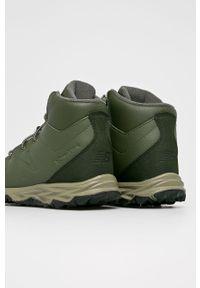 Oliwkowe buty zimowe New Balance na zimę, z okrągłym noskiem, na sznurówki, z cholewką