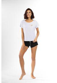 Biała piżama Lorin krótka