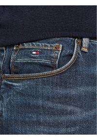 TOMMY HILFIGER - Tommy Hilfiger Jeansy Core Bleecker MW0MW01753 Granatowy Slim Fit. Kolor: niebieski. Materiał: jeans, elastan, bawełna