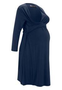 Sukienka ciążowa i do karmienia LENZING™ ECOVERO™ bonprix ciemnoniebieski. Kolekcja: moda ciążowa. Kolor: niebieski. Materiał: wiskoza