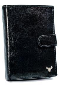 BUFFALO WILD - Portfel męski czarny Buffalo Wild N104L-BW BLACK. Kolor: czarny. Materiał: skóra