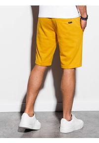 Żółte szorty Ombre Clothing krótkie