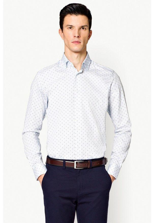 Biała koszula Lancerto z nadrukiem