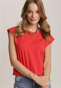 Renee - Czerwony T-shirt Prixelis. Kolor: czerwony