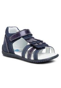 Niebieskie sandały Lasocki Kids z aplikacjami
