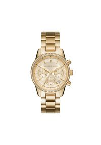 Złoty zegarek Michael Kors casualowy