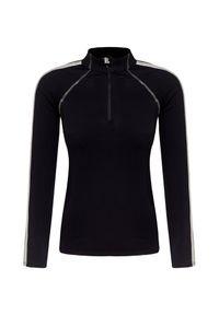 Czarny sweter Kelly by Sissy de Monte Carlo raglanowy rękaw, krótki, z golfem