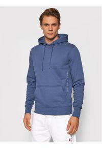 TOMMY HILFIGER - Tommy Hilfiger Bluza Logo MW0MW18713 Granatowy Regular Fit. Kolor: niebieski