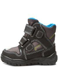 Czarne buty zimowe Superfit