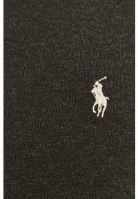 Polo Ralph Lauren - Longsleeve. Typ kołnierza: polo. Kolor: czarny. Materiał: dzianina. Długość rękawa: długi rękaw. Wzór: gładki
