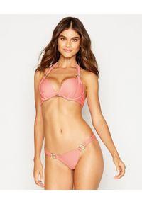BEACH BUNNY - Dół od bikini Madagascar Glam. Kolor: różowy, wielokolorowy, fioletowy. Materiał: materiał, prążkowany. Wzór: aplikacja