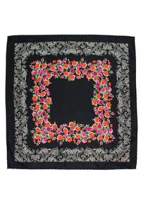 Czarna poszetka Alties w kolorowe wzory