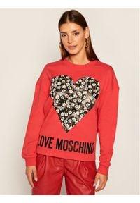 Love Moschino - LOVE MOSCHINO Bluza W640401M 4055 Czerwony Regular Fit. Kolor: czerwony