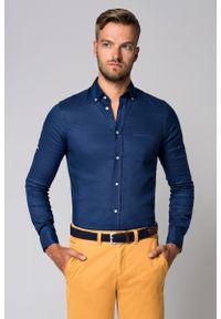 Niebieska koszula Lancerto krótka, button down