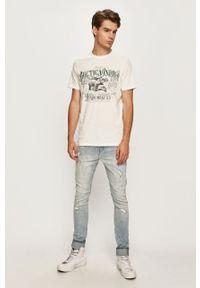 Biały t-shirt Only & Sons casualowy, z nadrukiem
