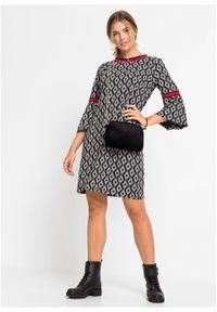 Czarna sukienka bonprix z aplikacjami, elegancka