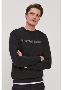G-Star RAW - G-Star Raw - Bluza. Okazja: na co dzień. Kolor: czarny. Wzór: aplikacja. Styl: casual