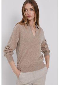 Samsoe & Samsoe - Samsoe Samsoe - Sweter. Okazja: na co dzień. Kolor: beżowy. Długość rękawa: długi rękaw. Długość: długie. Styl: casual #2