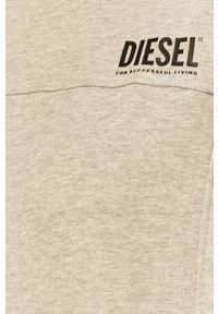 Szara bluza Diesel z aplikacjami, casualowa, na co dzień