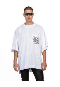 ROBERT KUPISZ - Biały t-shirt ORIENT KAMON POCKET. Kolor: biały. Materiał: bawełna. Styl: klasyczny
