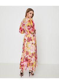Żółta sukienka Pinko midi, casualowa