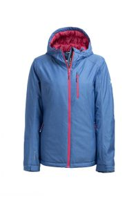 Niebieska kurtka narciarska outhorn melanż, ze stójką