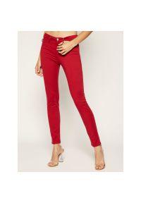 Czerwone jeansy slim Love Moschino