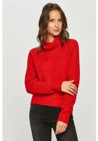 Czerwony sweter Calvin Klein Jeans długi, casualowy