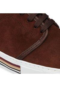Sneakersy QUAZI - QZ-64-06-001032 205. Okazja: na spacer, na co dzień. Kolor: brązowy. Materiał: skóra, zamsz. Szerokość cholewki: normalna. Styl: sportowy, casual