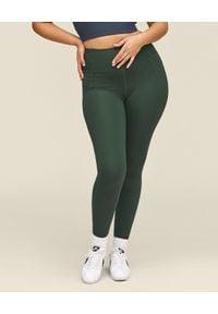 GIRLFRIEND COLLECTIVE - Zielone leginsy Moss Long. Stan: podwyższony. Kolor: zielony. Materiał: materiał, tkanina, poliester. Długość: długie. Wzór: ze splotem