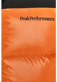 Pomarańczowa kamizelka Peak Performance casualowa, bez kaptura, na co dzień