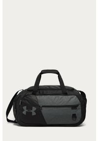 Czarna torba podróżna Under Armour z nadrukiem