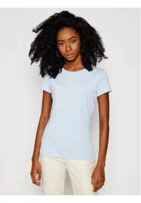 Marc O'Polo T-Shirt 102 2293 51083 Niebieski Slim Fit. Typ kołnierza: polo. Kolor: niebieski