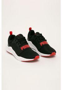 Czarne sneakersy Puma z cholewką, do biegania, z okrągłym noskiem, na sznurówki #5
