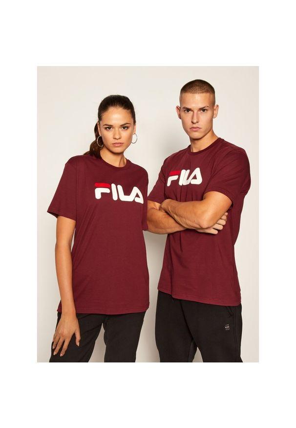 Czerwony t-shirt Fila