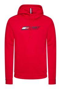 TOMMY HILFIGER - Tommy Hilfiger Bluza Logo MW0MW17255 Czerwony Relaxed Fit. Kolor: czerwony