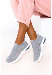 Casu - Szare buty sportowe slip on casu 7044-4. Zapięcie: bez zapięcia. Kolor: szary. Styl: sportowy