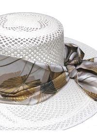 SENSI STUDIO - Ażurowy kapelusz Calado. Kolor: biały. Wzór: ażurowy. Styl: wizytowy, elegancki