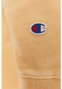 Oliwkowa bluza nierozpinana Champion z kapturem, z aplikacjami