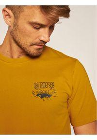 Converse T-Shirt 10019934-A03 Żółty Regular Fit. Kolor: żółty #5