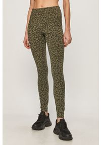 Oliwkowe legginsy Vero Moda