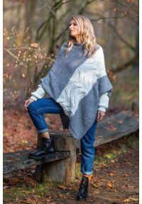 Szary sweter oversize Fobya