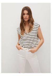 Białe jeansy slim mango
