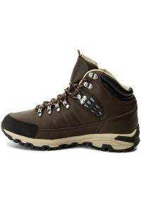 Brązowe buty trekkingowe Hi-tec trekkingowe, z cholewką