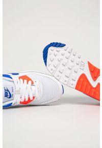 Białe buty sportowe Nike Sportswear na sznurówki, Nike Air Max 90, z okrągłym noskiem