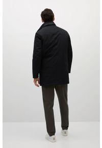 Czarna kurtka Mango Man bez kaptura, gładkie, street