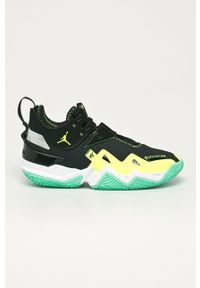 Czarne sneakersy Jordan z cholewką, na sznurówki